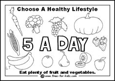 Healthy habits grade 1 worksheet earth day pinterest for Healthy habits coloring pages