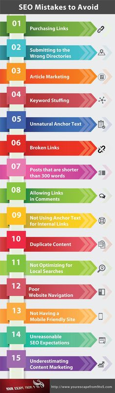 Not on Page 1 of Google? 15 #SEO Mistakes Killing Your Rankings #Infographic