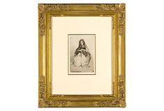 "James Abbott Mcneill Whistler, Fumette on OneKingsLane.comDimensions:platemark, 6 3/8"" x 4 1/4""; sheet size, 7 7/8"" x 5 1/2"""