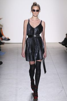 See the complete Adam Selman Fall 2017 Ready-to-Wear collection  get a good sheer pair of knee high hold ups to update for fall