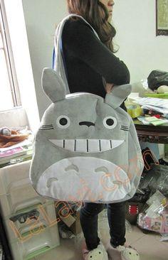 Japan totoro plush shouler bag tote shopper bag super big new