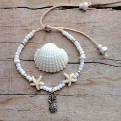 Shell Jewelry, Seed Bead Jewelry, Beach Jewelry, Cute Jewelry, Boho Jewelry, Jewelry Crafts, Handmade Jewelry, Bohemian Bracelets, Cute Bracelets