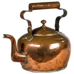A Large George II Copper Kettle c.1740.