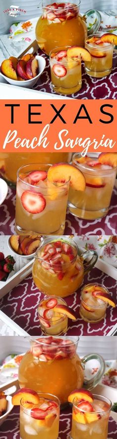 Peach Sangria This is a quick and easy alcoholic peach punch/sangria recipe that is fresh and fruity.This is a quick and easy alcoholic peach punch/sangria recipe that is fresh and fruity. Alcohol Drink Recipes, Sangria Recipes, Cocktail Recipes, Margarita Recipes, Punch Recipes, Refreshing Drinks, Summer Drinks, Brunch, Punch Sangria