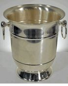 These stainless steel champagne buckets are a steal-$23 each when you buy 3. Buy a set, save for Christmas or wedding gifts. Get them monogramed with the recipients initials or last name in a fancy font, for gifting. I think there are even kits you can buy to etch things like this at craft stores. Alone, it's a great gift that looks like you spent $$$. Go beyond by adding a great bottle of champagne and some beautiful flutes, too.  www.saveoncrafts.com
