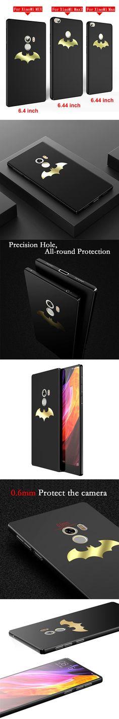 Luxury Batman Phone Case For Xiaomi Mi Mix / Mix 2 / Max / Max 2 Coque Protective PC Hard Back Cover For Xiaomi mi Max / Max 2