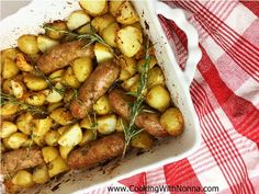 Roasted Sausage and Potatoes with Herbs