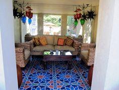 Loving the floor tile art!