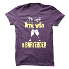 Drink with a Bartender - #appreciation gift #shirt for women. TRY => https://www.sunfrog.com/LifeStyle/Drink-with-a-Bartender-Purple-37359957-Guys.html?60505