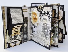 Not a card..but I could see using this scheme on a card....  A Piece Of Craft.com: Prima and Tattered Angels Blog Hop