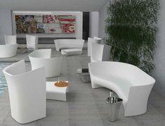 Commercial Interior Design, Commercial Interiors, Classic Furniture, Contemporary Furniture, Outdoor Furniture Design, Garden Furniture, Boffi, Grey Armchair, Elle Decor