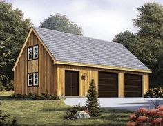 2 5 car garage plans with living space above two car for One car garage kit with loft
