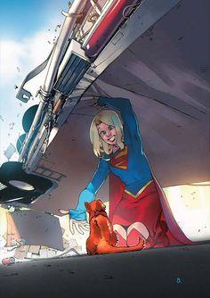 Supergirl by Bengal, DC Comics Dc Batgirl, Supergirl Comic, Marvel Vs, Marvel Dc Comics, Comic Books Art, Comic Art, Hq Dc, Superman Family, Dc Characters