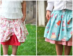 how to sew these cute skirts:)
