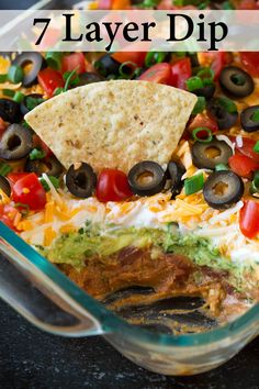 My favorite recipe for Bean Dip! Packed with flavor and always a crowd pleaser. Perfect game day food or party snack. My favorite recipe for Bean Dip! Packed with flavor and always a crowd pleaser. Perfect game day food or party snack. 7 Layer Bean Dip, Layered Bean Dip, 7 Layer Mexican Dip, Seven Layer Dip Recipe Easy, Mexican Bean Dip, 7 Layer Taco Dip, Easy Taco Dip, Cold Taco Dip, Mexican Dips