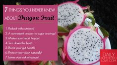 The benefits of dragon fruit will make your body hum with happiness! Did you know it can help lower your risk of cancer? Here's 6 more reasons to try it...#DragonFruit #EatClean