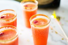 Mango & Raspberry Bellini by A House in the Hills | Camille Styles