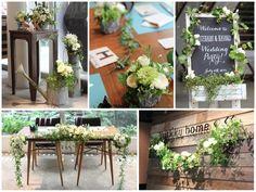 野の花を摘んできたような、ナチュラル感いっぱいのパーティー装花。 アイビー等の蔓ものを壁やテーブルから垂らすことで、アレンジに動きを出し、まるでそこから植物が生えているかのような自然な雰囲気に。 カジュアルな雰囲気のアレンジは肩肘はらないリラックスした結婚式にオススメ。◆  kukka design ◆ 東京・三軒茶屋にあるウェディングフラワーのオーダーメイドアトリエ http://www.kukka-flowers.com