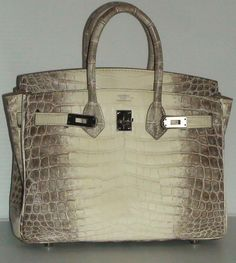 f6ee3476c818 Hermes Himalyan Birkin Crocodile Leather size 25 Hand Bag Color Blanc White   hand  color  blanc  white  size  leather  himalyan  birkin  crocodile   hermes