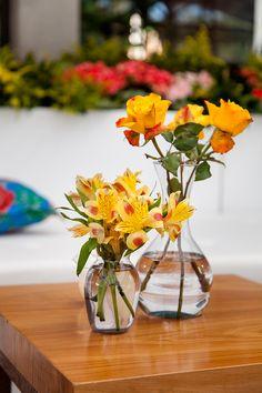 Decoração Amarela - Astroemérias e Rosas Casamento no campa