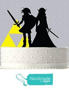 #linkzelda #geekwedding # caketoppers Link and Zelda with Triforce Inspired Wedding Cake Topper from Bee3DGifts http://www.amazon.com/dp/B01BXIC52S/ref=hnd_sw_r_pi_dp_m35Xwb0CGE7HB #handmadeatamazon