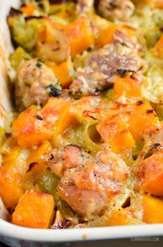 Slimming Slimming Eats Low Syn Chicken, Leek and Butternut Squash Bake - gluten free, Slimming World and Weight Watchers friendly Sp Meals Slimming World, Slimming World Recipes Syn Free, Slimming Eats, Slimming Word, Squash Bake, Baked Squash, How To Bake Squash, Squash Food, Healthy Chicken Recipes