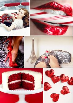 I thought the red would be cool for the cake! You could do a three layer cake; Chocolate, vanilla, and red! Silver Wedding Colours, Glitter Wedding, Red Wedding, Wedding Dress, Wedding Bells, Wedding Stuff, Glitter Boots, Silver Glitter, Glitter Nails