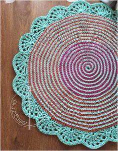 Baby flower crochet Rug ready to ship 90cm/3ft by dziergalnia / 3 feet in diameter / baby or kid's rooms / CROCHET pattern
