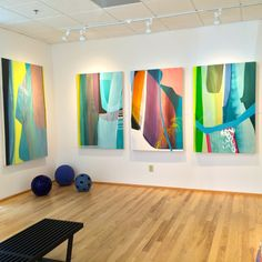 Women in Abstract Show at Hidell Brooks Gallery | The English Room