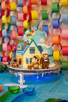 Disney Pixar UP rainbow 1st birthday party! www.katrinalynnphotography.com