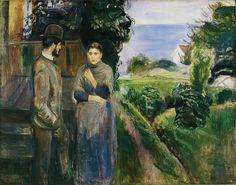Edvard Munch - Evening Talk  [1889] [National Gallery of Denmark, Copenhagen - Oil on canvas]