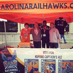 The @carolinarailhawksfc love @brewgalooraleigh!! Be sure to visit their tent right in front of the grassy area on Fayetteville St near the Marriott hotel : serving up a Kupono Captain's Ale by @loneriderbeer! #carolinarailhawks #lonerider  #brewgaloo #drinklocal #partylocal www.shoplocalraleigh.org/brewgaloo