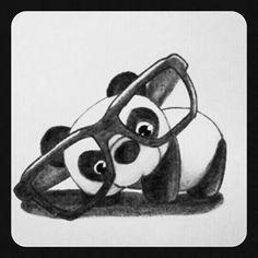 It's a cute little panda drawing :) - awwwww. Love Drawings, Beautiful Drawings, Animal Drawings, Panda Love, Cute Panda, Happy Panda, Tatto Panda, Lapin Art, Panda Drawing