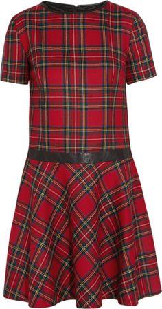 Karl Lagerfeld For Net-a-Porter: Penny faux leather-trimmed tartan cotton dress ($450) @NET-A-PORTER.COM