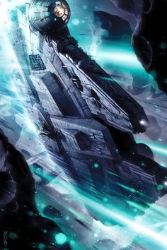 Millennium Falcon Asteroid Field Star Wars Interpretive Artwork Giclée on Canvas Star Citizen, Images Star Wars, Star Wars Pictures, Starwars, Star Wars Fan Art, Science Fiction, Film Gif, Nave Star Wars, Star Wars Prints