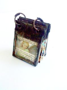 Miniature Stained Glass Collage Journal Pendant by Mystarrrs