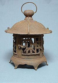 Types of Japanese Lanterns | Antique Japanese Cast-Iron Lantern, Taisho Period (item #350242)