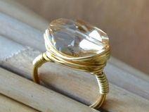 Wrapped Ring mit Swarovski-Elements-Stein #001