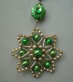 seed bead star ornament
