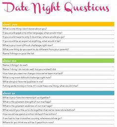 20 Sexy Date Night Questions Free Printable Couple