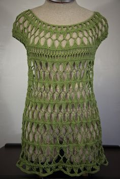 Crochet Top Pattern  Sage Tunic by MyHandsonLife on Etsy