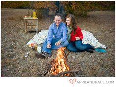 Ideas for our client's beach bonfire engagement session in December.