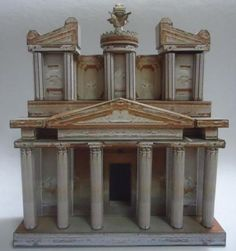 Petra Treasure Paper Model In 1/72 Scale - by Papermau - Assembling The Model…