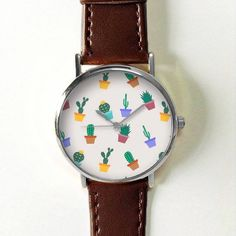 Cactus Plant Watch Ships Worldwide Type: Quartz Wrist Size: Adjustable from 17 cm to 21 cm (6.69 inches to 8.26 inches) Display: Analog Dial Window