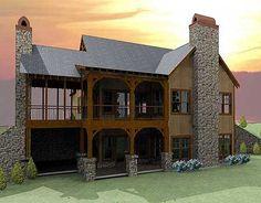 Open Floor Plan with Wrap Around Porch | Mountain house plans ...
