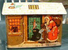 Vintage Rowntree's Christmas tin  c1930s