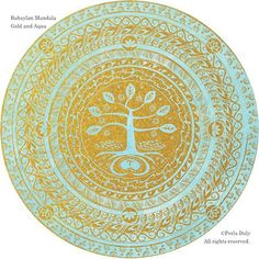 Gold on Aqua. by Perla Daly. Includes ancient Philippine script baybayin and universal symbols. Tree of life is made with baybayin in branches and roots. Mabuhay—LifeLightLove to you, all you do, all you love. Baybayin, Filipino Tattoos, Bodhi Tree, Sun And Stars, Sketch Inspiration, Mandala Tattoo, Mandala Art, Sacred Art, Beauty Art