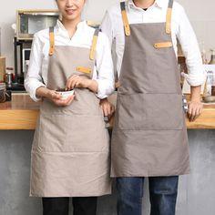 >> Click to Buy << Full Length Gray/Khaki Cotton Linen Apron Barista Cafe Chef Bistro Uniforms Waitress Painter Baker Florist Gardener Workwear B25 #Affiliate