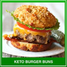 Gone keto, miss bread? Discover dozens of recipes for delicious keto breads - all with complete macros &nutrition! Keto Burger, Burger Buns, Low Carb Flour, Low Carb Bread, Bread Recipes, Low Carb Recipes, Baking Recipes, Grain Free Bread, Best Keto Bread