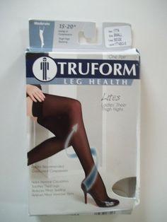 434da3afe6 (eBay Ad) Truform 1774 Ladies Thigh Highs Compression Stocking 15-20